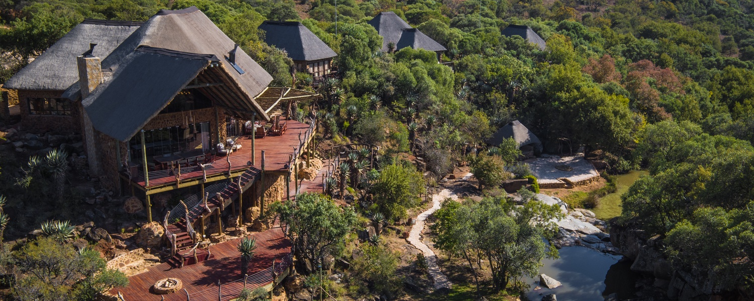Iwamanzi game lodge - aerial view